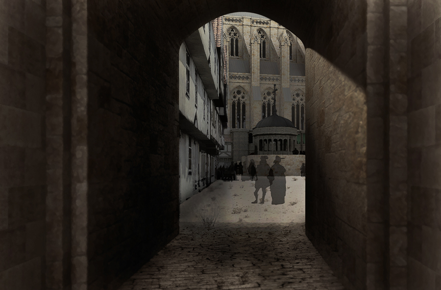 Gateway into the courtyard